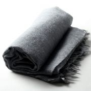 Indian angora mohair scarf dark grey