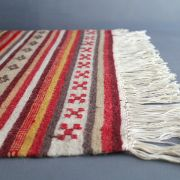 Indian handicraft carpet Dari wool and coton colorful