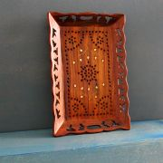 Indian handicraft wooden tray for service