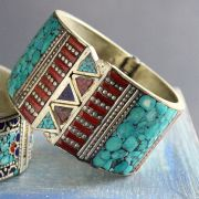 Indian metal and stones ethnic bangle