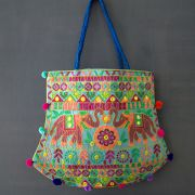 Indian handicraft handbag Funda blue