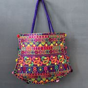 Indian handicraft handbag Funda purple