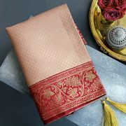 Indian handicraft table runner Sandhya pink and maroon