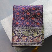 Indian handicraft table runner Sandhya dark blue