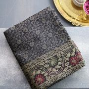 Indian handicraft table runner Sandhya black