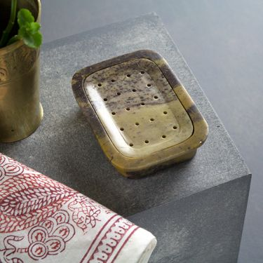 Indian handicraft marble soapdish