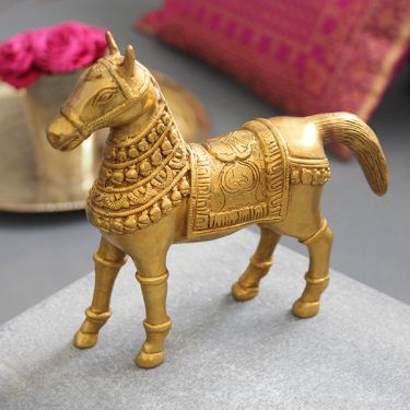 Indian handicraft brass statue Horse