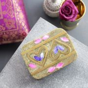 Indian handicraft inlaid marble box