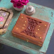 Indian handicraft wooden Konirim jewelry box