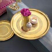 Thal traditional Indian brass tray Large
