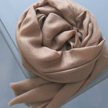 Indian cashmere woolen scarf diamond brown