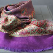Indian mix cotton scarf purple