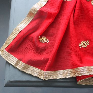 Indian saree red color
