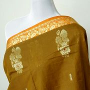 Indian saree cotton brown