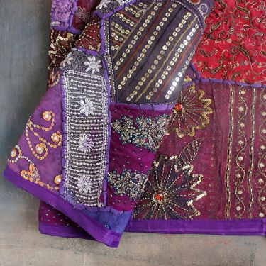 Indian wall hanging Patchwork purple