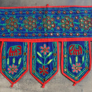 Indian vaner wall blue cotton Toran
