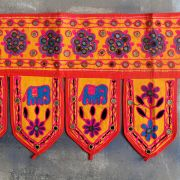 Indian vaner wall orange cotton Toran
