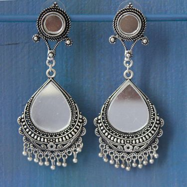 Indian earrings long ethnic jewel