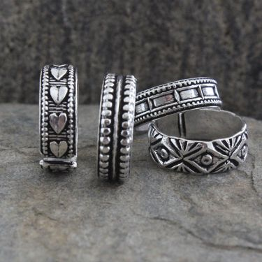 Indian handicraft ethnic foot rings X4 pieces