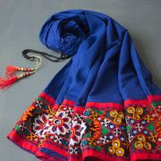 Indian cotton skirt Gujrati blue color