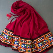 Indian cotton skirt Gujrati maroon color