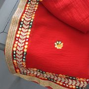 Saree indien traditionnel complet rouge