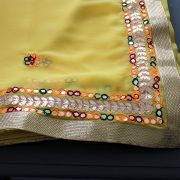 Indian traditional saree yellow color