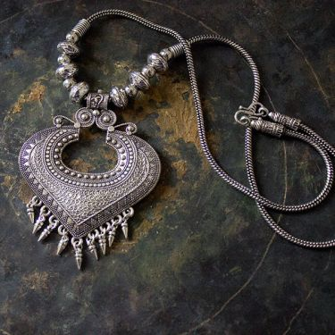 Indian ethnic metal necklace