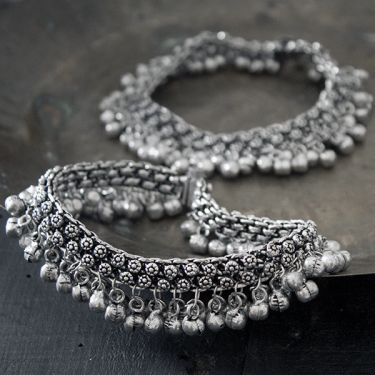 Indian ethnic metal anklets fancy jewelry