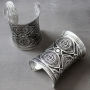Indian tribal bangle long silver Kada