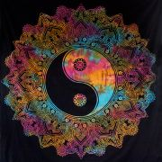 Indian cotton Mandala YIN and YANG colorful
