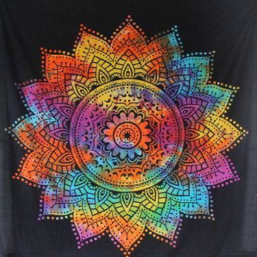 Indian cotton Mandala LOTUS colorful