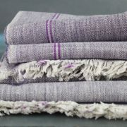 Indian Khadi handicraft towel purple