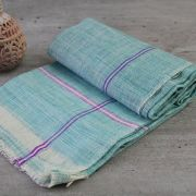 Indian Khadi handicraft towel green