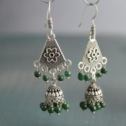Indian ethnic earrings Jhumki green