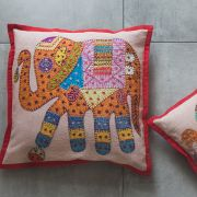 Indian cotton Cushion cover Elephant orange L42