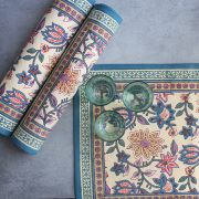 Indian printed cotton table mat colorful
