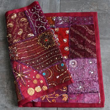 Indian wall hanging Patchwork maroon