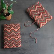 Indian handicraft printed cotton diary maroon