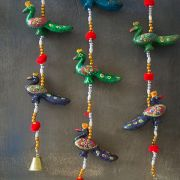 Indian handicraft door hanging Peacocks