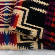 Nepalese woolen shawl traditional blue and black