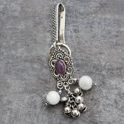 Indian traditional keychains Satka purple