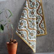 Indian kitchen towel or napkin light brown and white