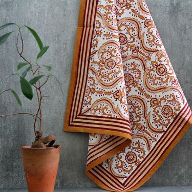 Indian handicraft kitchen towel or napkin brown
