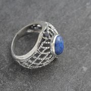 Indian silver and lapis stones ring S9
