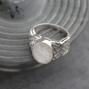 Indian silver and moonstone ring S12
