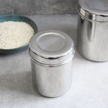 Indian stainless steel box Dabba S