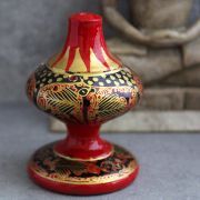 Indian incense sticks stand paper mache red