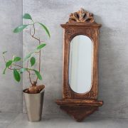 Indian handicraft wooden mirror