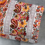 Indian cotton vegetal quilt Rajai white and orange